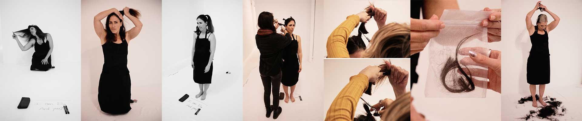 קולקציית תמונות של אלה סלומון במופע For Me- For You- Forgive, בו היא מגלחת את שיערה בעזרת הקהל